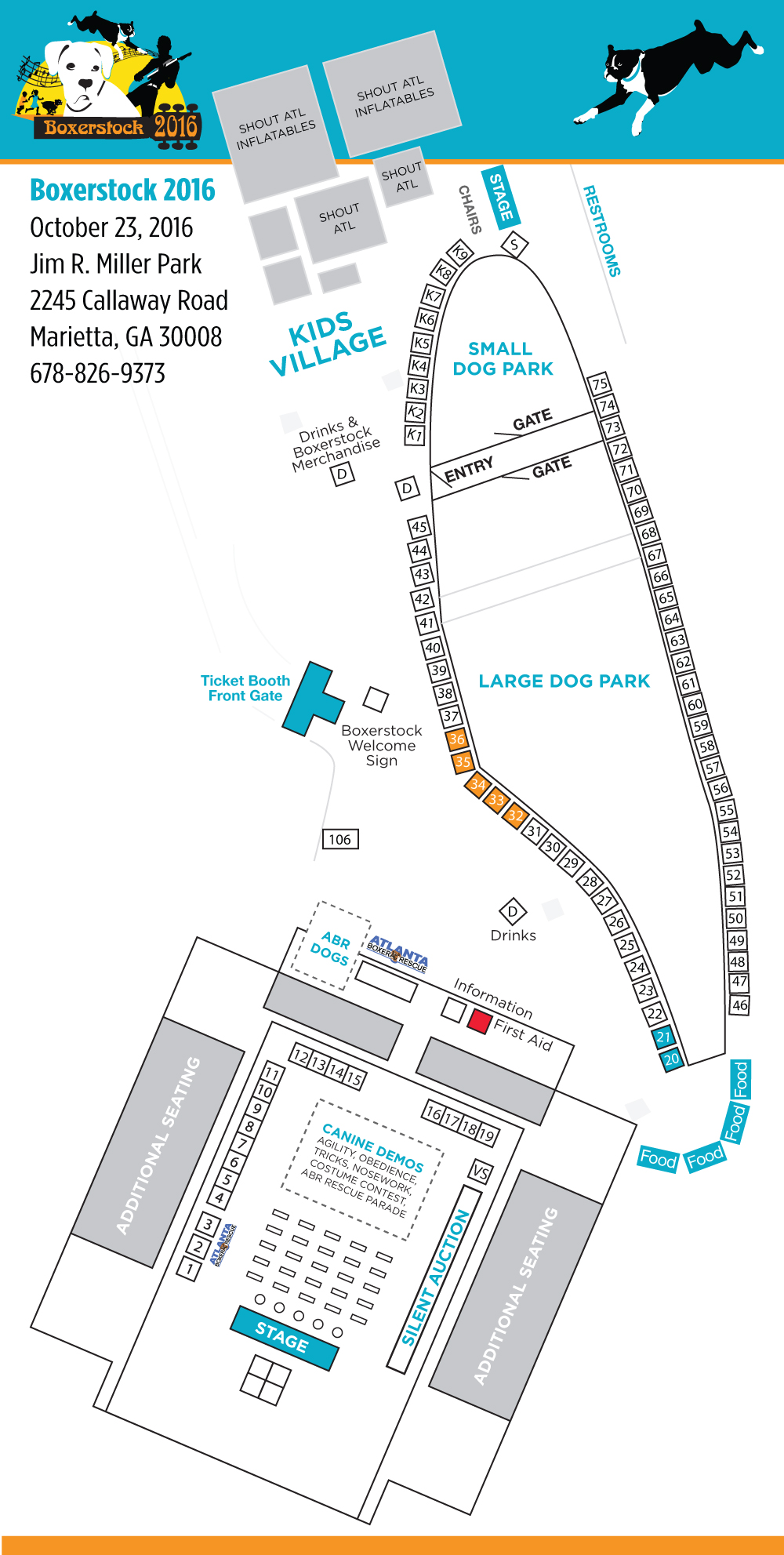 Vendor Booth Map